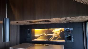 Kjøkkenet begynner å ta form